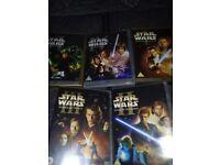 5 X ORIGINAL STAR WARS DVDS