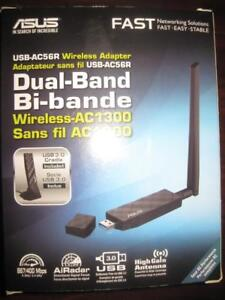 ASUS Wireless AC1300 USB 3.0 WiFi Adapter. Dual Band. Fast Speed Internet with External High Gain Antenna