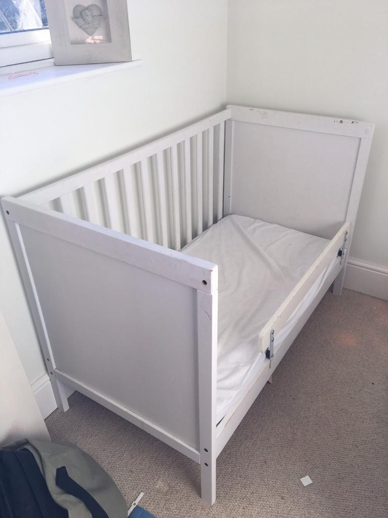 ikea sundvik cot and vyssa vakert mattress in coventry west midlands gumtree. Black Bedroom Furniture Sets. Home Design Ideas