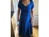 Blue Bridesmaid Dress, Jacket, Shoes & Tiara