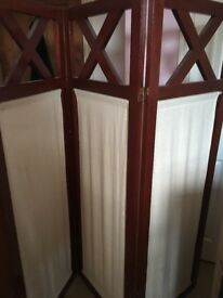 Wood and material room divider