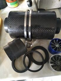 car AIR FILTER COLD air and 2 fans