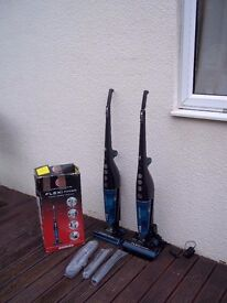 HOOVER Flexi Power SU204B2 Cordless Bagless Vacuum Cleaners x 2 PLEASE READ