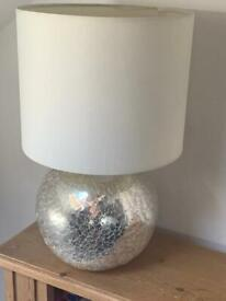 Set of 2 silver lamps - good condition