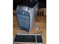 PowerMac G4. OSX, 2gig ram, dual CPU, CD/DVDr, etc...