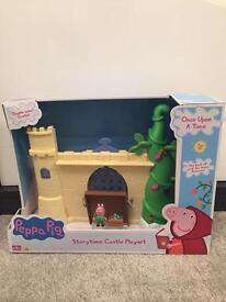 New Peppa Pig story time castle playset