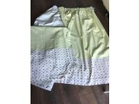 """Lime green pair of blackout curtains size 104""""x 60"""" drop, vgc"""