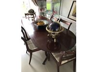 Large extending family dining table & 6 chairs - ideal for Christmas lunch!!!