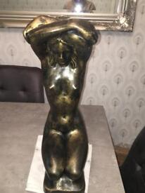 Bronze ornament of naked woman