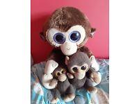 Set of 3 Toy Monkeys