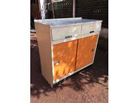Vintage / Retro Kitchen Cupboard - Retro 1950's Kitchen Base Unit