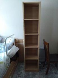 Oak effect narrow shelf