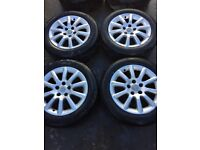 GENUINE VAUXHALL ASTRA H SET OF ALLOY WHEELS AND TYRES FITS YEAR 04-11