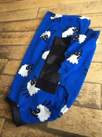 Snuggy hoods blue dog coat