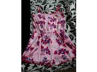 """NEW SIZE 16/18 """"LIPSY"""" PINK PRINT PLAYSUIT"""