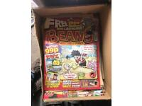 2 large boxes of beano comics ranging from old too new