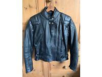 Ashman ladies leather motorbike jacket