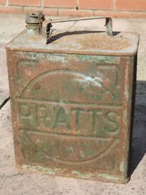 Genuine Pratts Vintage Motor Spirit Can - Used