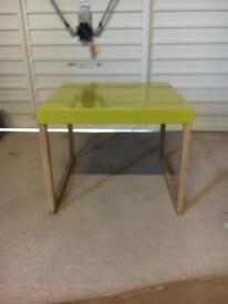 Habitat mustard yellow side table