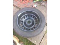 Zafira car wheel.