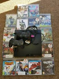 PlayStation 3 with games 2 controllers