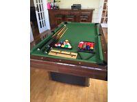 Slate Pool Table & Cues & Snooker Balls