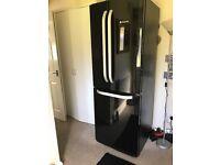 HOTPOINT American fridge freezer Black