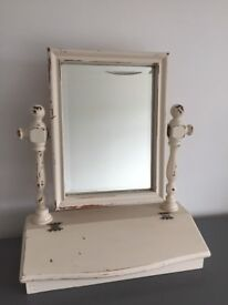 Lovely shabby chic dressing table mirror