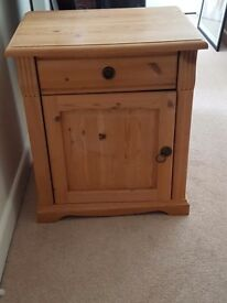 Bedside Cabinet X2 in Solid German Pine