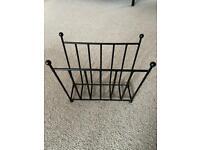 Cast iron black magazine rack