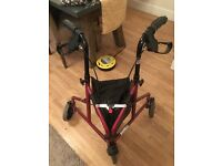 Hardly used 3 Wheel Mobility walker lightweight