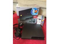 PlayStation 3 320gb slim with box , leads , controller, 7 games and 1 blu Ray. Good condition