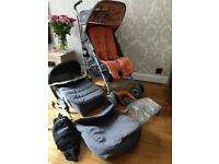 Maclaren XLR techno unisex pushchair, carry cot & accessories