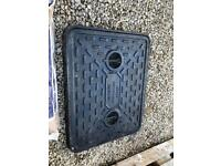 Man Hole Cover & frame. 600x500 Cast Iron Original Unit