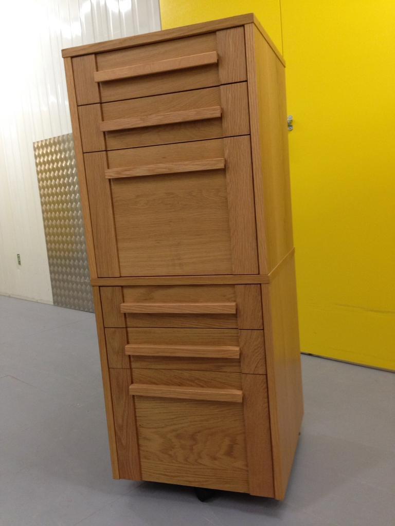 2x Marks Spencer Sonoma Solid Oak Filing Cabinets Chest Drawers Laura Ashley John Lewis Habitat