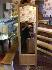 Tall full length mirror, superb quality, free standing