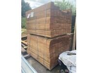 5ft Brown Treated Feather Edge Wooden Fencing Pieces / Boards / Panels ~ New