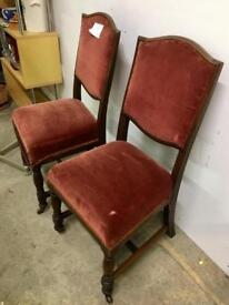 Pair dining chairs. Chase pitch