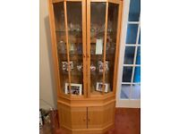 Display cabinet with cupboard (without contents!)