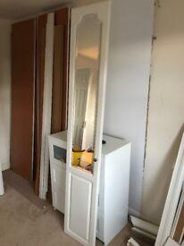 White/Mirror Wardrobe Doors x 6