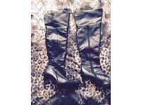 Thigh boots real leather 8