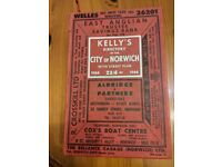 KELLY'S DIRECTORY OF THE CITY OF NORWICH 1966 21ST EDITION 908 PAGES 4 SECTIONS