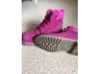 Timberland boots fuschia pink (size 6)