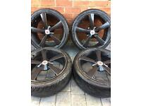 """Wolfrace 17"""" Alloy Wheels Full Set With Brand New Tyres Excellent Condition"""