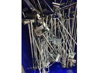 Box of assorted slatwall hooks