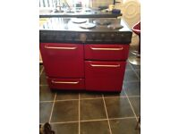 Electric oven red