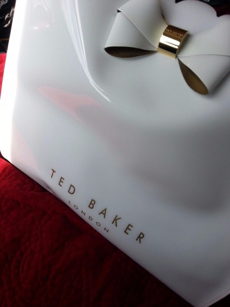 TED BAKER white and gold bag - almost new in great condition