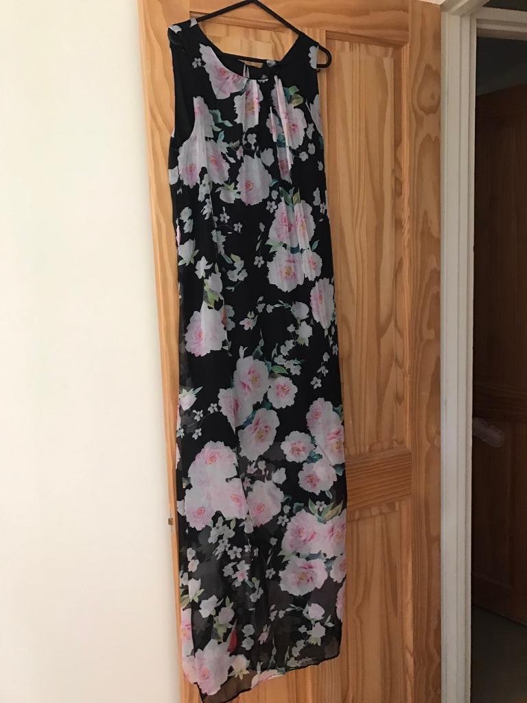 Ladies size 12-14 long Chiffon dress