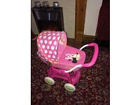 Disney Minnie Mouse pram pushchair