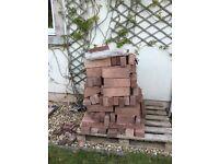 Sandstone walling and concrete blocks